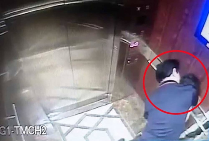 Hành vi sàm sỡ bé gái trước đó của ông Nguyễn Hữu Linh bị camera ghi hình lại.