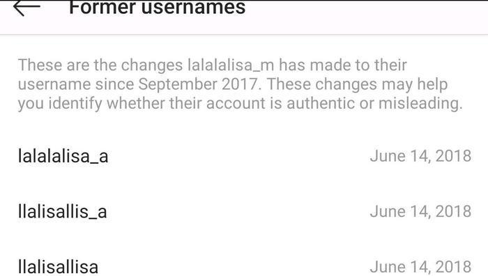 Tài khoản 20 triệu lượt theo dõi của em út Lisa đã từng 3 lần đổi tên.