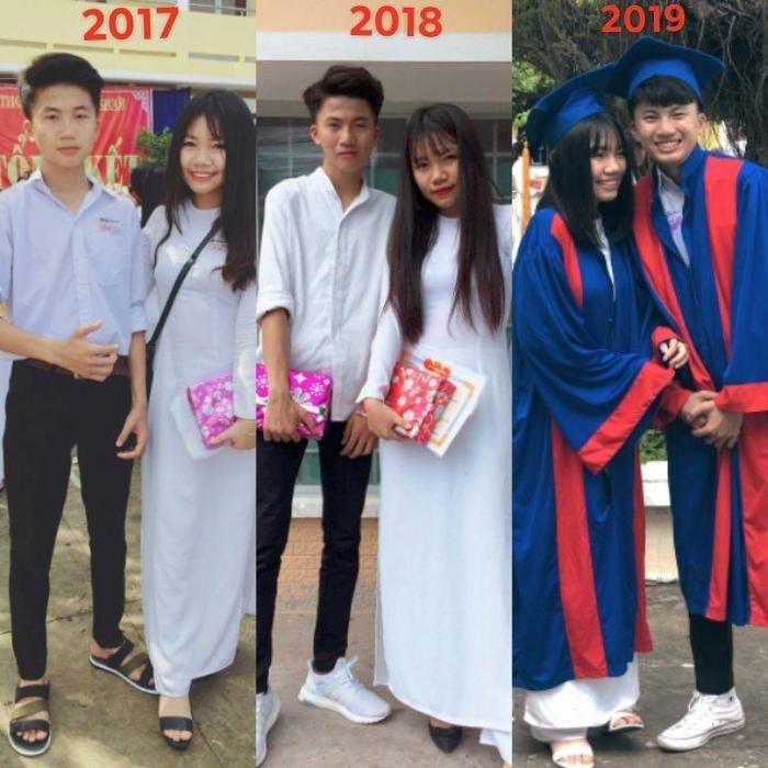 Bức ảnh 3 năm thanh xuân thu hút sự chú ý trên mạng xã hội. Ảnh: Lan Ngọc Nguyễn