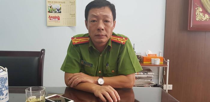 Thượng tá Đỗ Anh Quyến, Phó Trưởng Công an quận Bắc Từ Liêm kể lại sự việc.