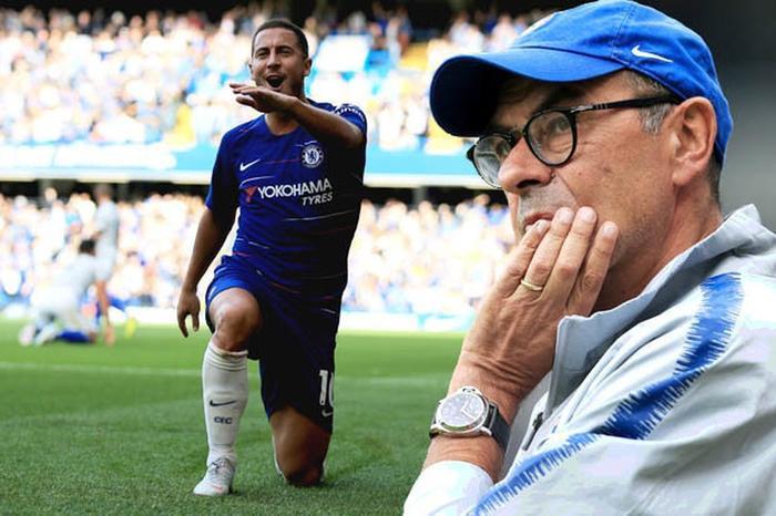 Sarri và Hazard là 2 cái trên sẽ rời Stamford Bright trong mùa hè này.