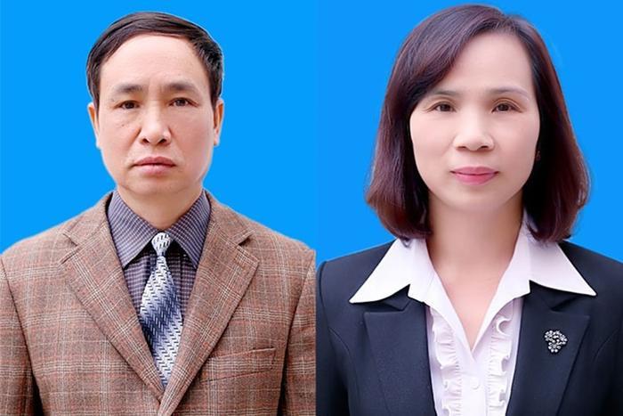 2 cựu Phó Giám đốc Sở GDĐT Hà Giang Phạm Văn Khuông và Triệu Thị Chính bị truy tố. Ảnh: Báo Lao động.