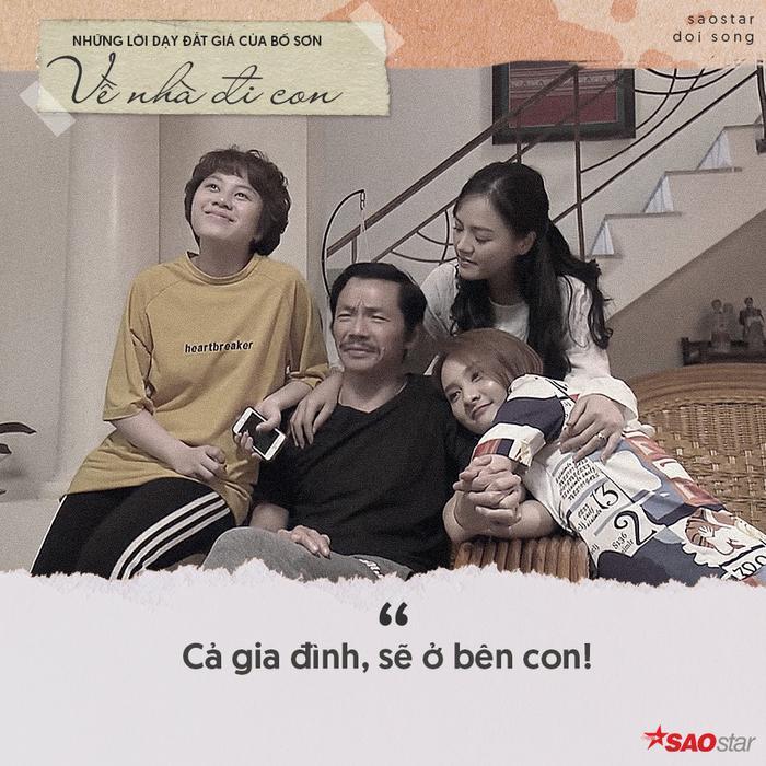 Cả gia đình, sẽ ở bên con!