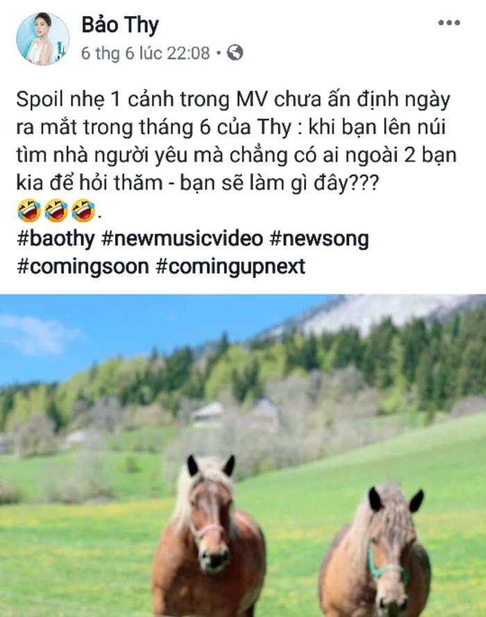 """Bảo Thy thả 'thính' loạt ảnh cho MV mới: """"Lên núi tìm người yêu mà chỉ gặp toàn là… ngựa""""."""