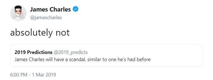 """Thái độ của Shawn Mendes và của chuyên gia sắc đẹp James Charles đối với lời tiên đoán """"vô thưởng vô phạt"""" này đều mang tính chủ quan và mỉa mai."""