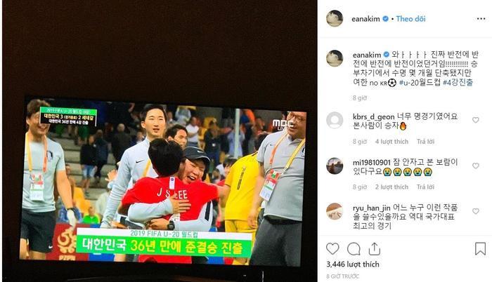 Jung Hae In cùng loạt sao chúc mừng Hàn Quốc vào bán kết U20 thế giới sau 36 năm ảnh 9