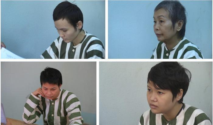 Các bị can đã bị khởi tố, bắt giam. (Ảnh: NĐT)