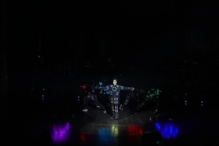 Hiệu ứng đèn led được sử dụng để biểu diễn.
