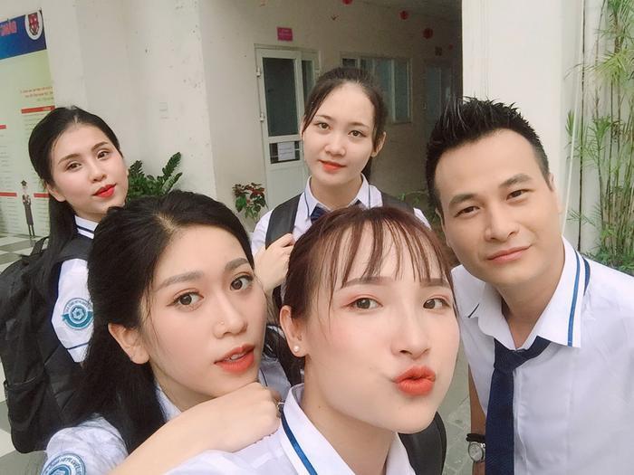 """Thu Hương đóng vai phụ trong bộ phim """"Siêu quậy"""" của đạo diễn Nguyễn Love. Ảnh: Hương Thu Lê"""