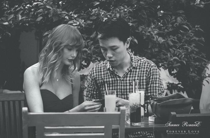 """Anh chàng còn lầy lội ghi: """"Kỷ niệm 2 năm yêu nhau. lớp du… tay lo quýt"""" (Love you… Taylor Swift)"""