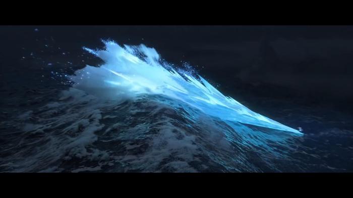 Dùng năng lực đóng băng để chế ngự cơn sóng.