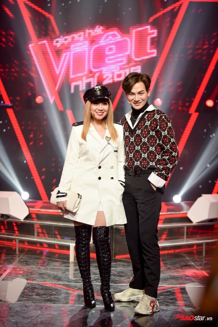 Cặp đôi huấn luyện viên Lưu Thiên Hương - Ali Hoàng Dương.