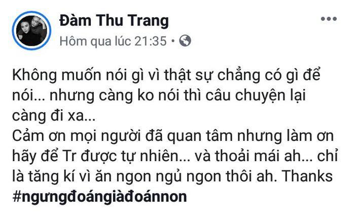 Đàm Thu Trang bất ngờ chia sẻ về tin đồn mang thai với Cường Đôla khiến công chúng bất ngờ ảnh 6