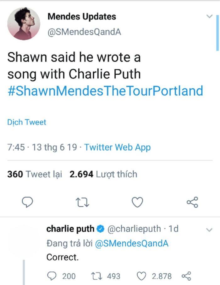 Charlie Puth lên tiếng xác nhận về màn hợp tác này.