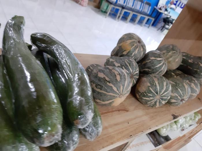Đa dạng các loại rau củ.
