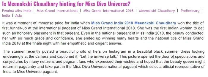 … khiến chuyên trang sắc đẹp quốc tế dự đoán ngay cô nàng đang được để ý cho Miss Universe 2019.