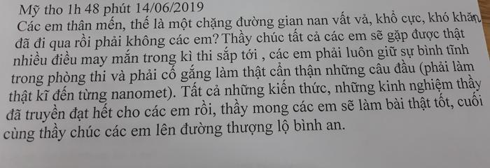 Lời nhắn gửi đầy xúc động của thầy giáo trường THPT chuyên Tiền Giang: 'Tất cả những kiến thức, những kinh nghiệm, thầy đã truyền đạt cho các em hết rồi…'