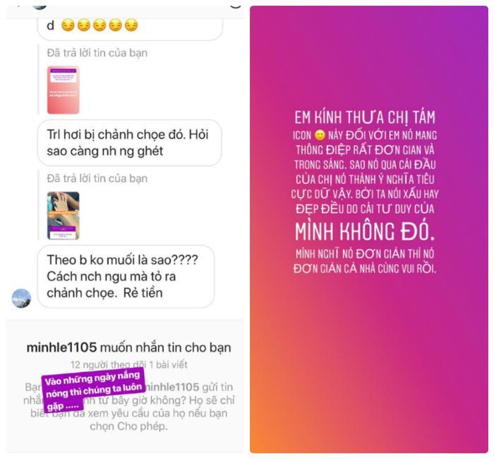 Hoa hậu Siêu quốc gia Châu Á Minh Tú đáp trả thẳng thắn bình luận của anti-fan khi bị chê nói chuyện thiếu lịch sự.
