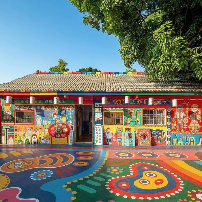 Ngôi nhà của ông Hoàng cùng các cư dân trong làng giờ đây đã trở thành một tác phẩm nghệ thuật khổng lồ. Ảnh: Taiwan Tourismusbüro.