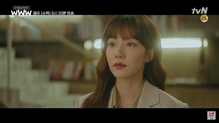 """Trong tập phim trước đó, Im Soo Jung đã đề cập đến chương trình """"Produce X 101"""", không chỉ ủng hộ Lee Dong Wook làm MC mà còn cổ vũ cho thực tập sinh Son Dong Pyo (gà cùng công ty)."""