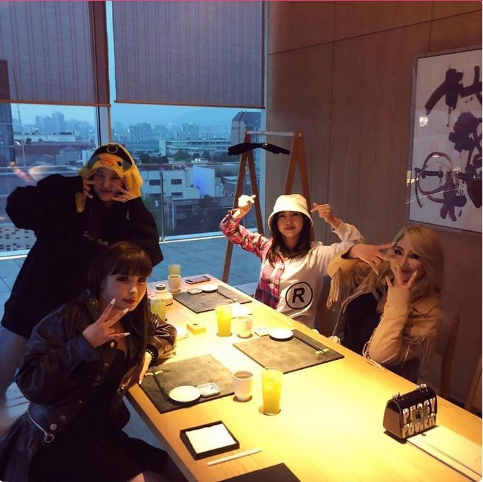 Cả bốn thành viên đều có mặt tại ngày kỉ niệm 10 năm ra mắt của 2NE1.