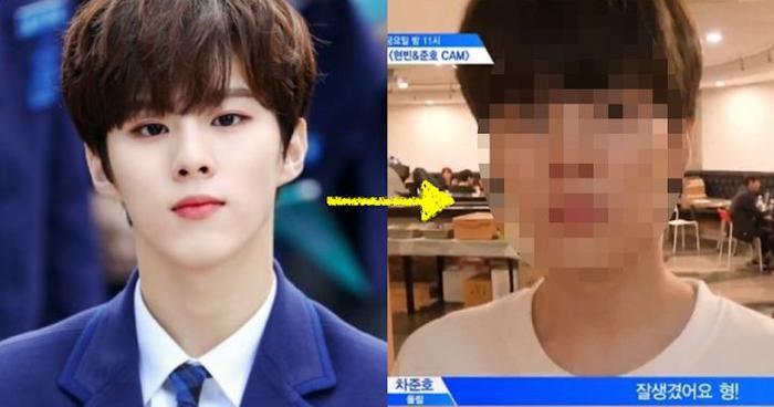 Mặt mộc của Kim Wooseok trông đẹp hơn rất nhiều!