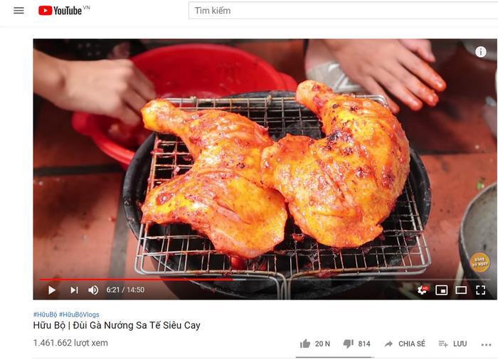 """Video """"Đùi gà nướng siêu cay"""" mang đến hơn 1,4tr lượt xem."""
