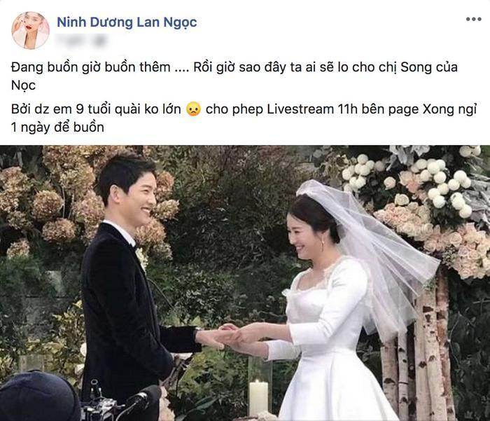 Diễn viên Ninh Dương Lan Ngọc khá tuyệt vọng cho mối tình của idol kết thúc sau 2 năm tưởng chừng là mãi mãi.