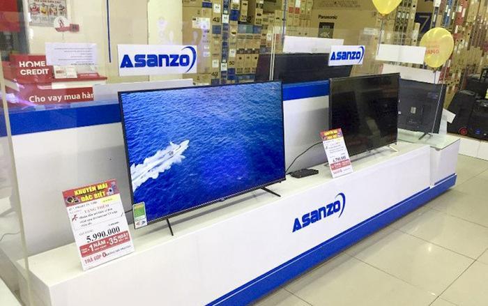 Khách hàng sẽ được đổiTV Asanzo sang thương hiệu bất kỳ đang kinh doanh tại trung tâm mua sắmNguyễn Kim