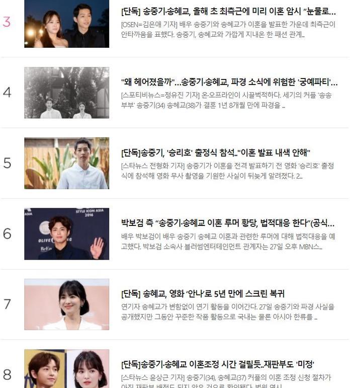 Bảng tin được đọc nhiều nhất trên Naver.