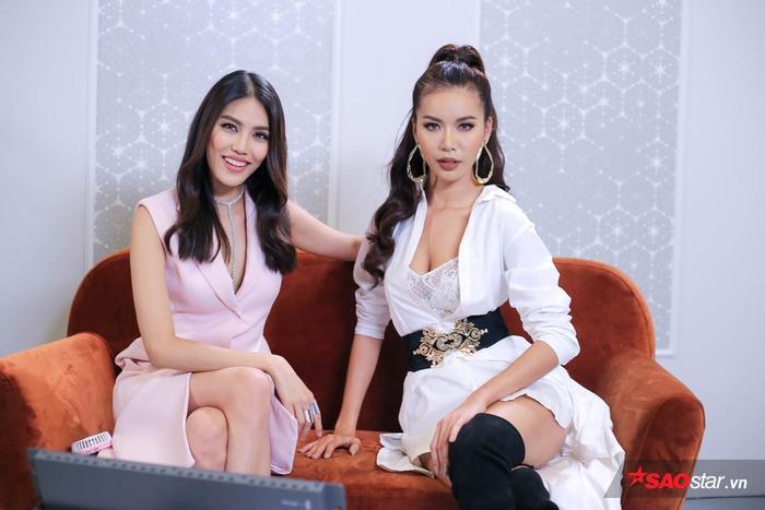 Từng liên tục mâu thuẫn tại Gương mặt thương hiệu 2017 nhưng trong mắt Minh Tú, Lan Khuê vẫn là một đồng nghiệp thông minh và sắc sảo.