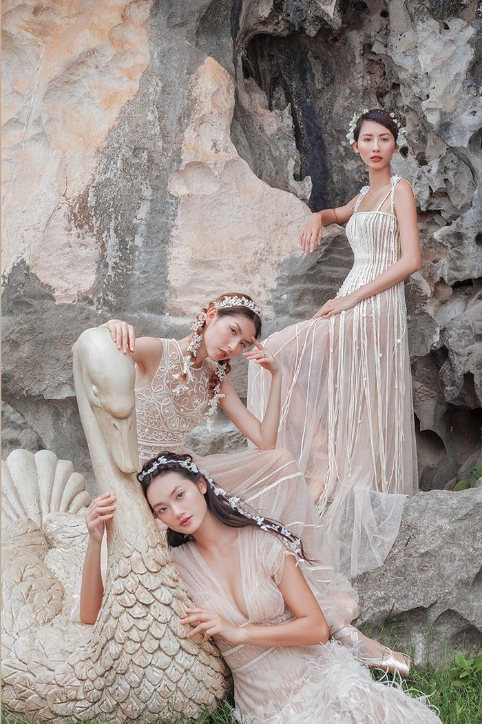 Bộ 3 chân dài hóa tiên nữ mơ màng trong những thiết kế xuyên thấu đẹp mê hồn ảnh 4