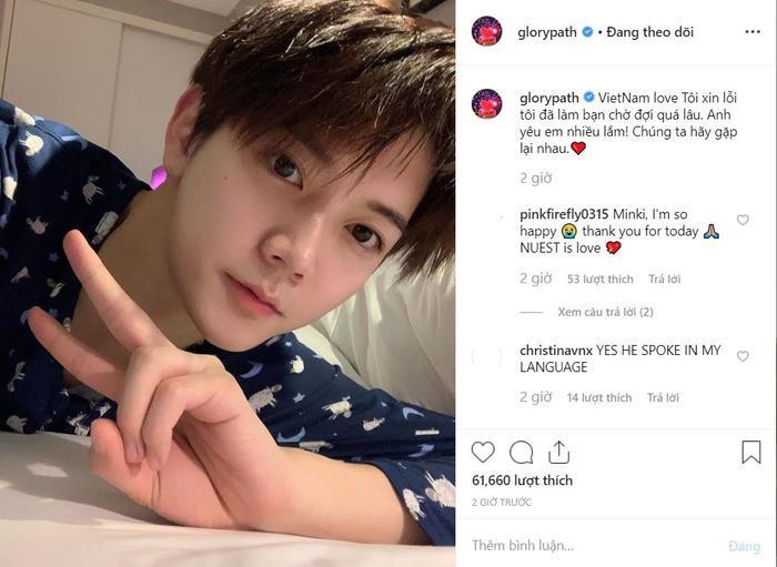 NUEST thích thú đội nón lá và muốn sống ở Việt Nam, Ren viết tiếng Việt xin lỗi fan trên Instagram ảnh 11