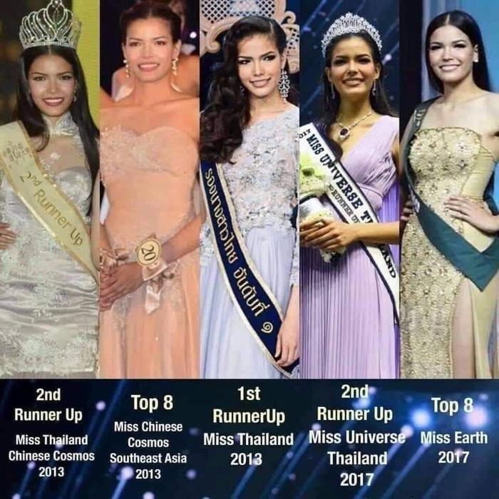Để trở thành Miss Universe Thailand 2019 một cách thuyết phục, tân hoa hậu đã từng in top 5 cuộc thi lớn trong và ngoài nước.