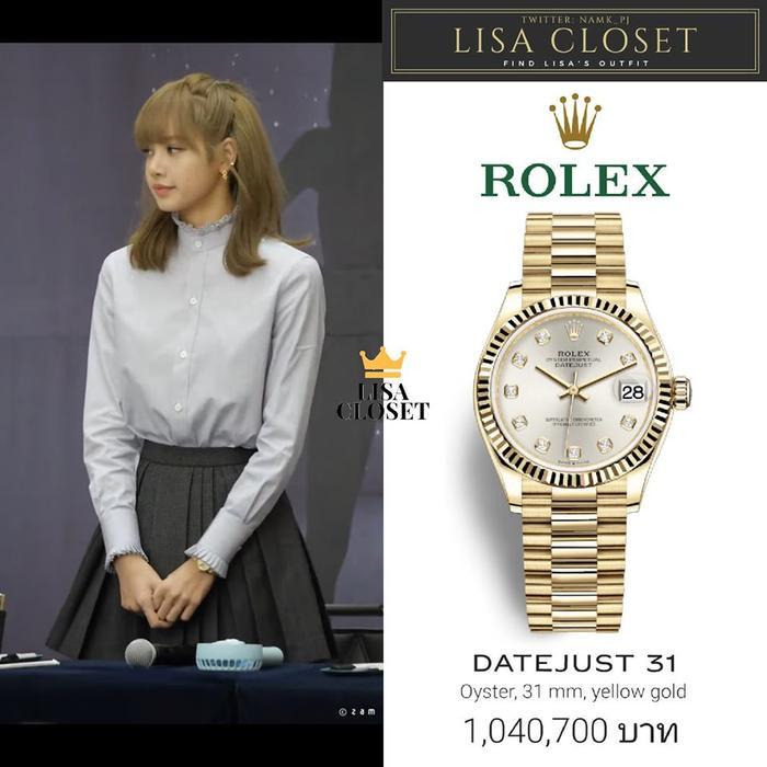 Và spotlght của bộ trang phục lần này chính là chiếc đồng hồ Rolex có giá 31.550 USD (hơn 730 triệu đồng)