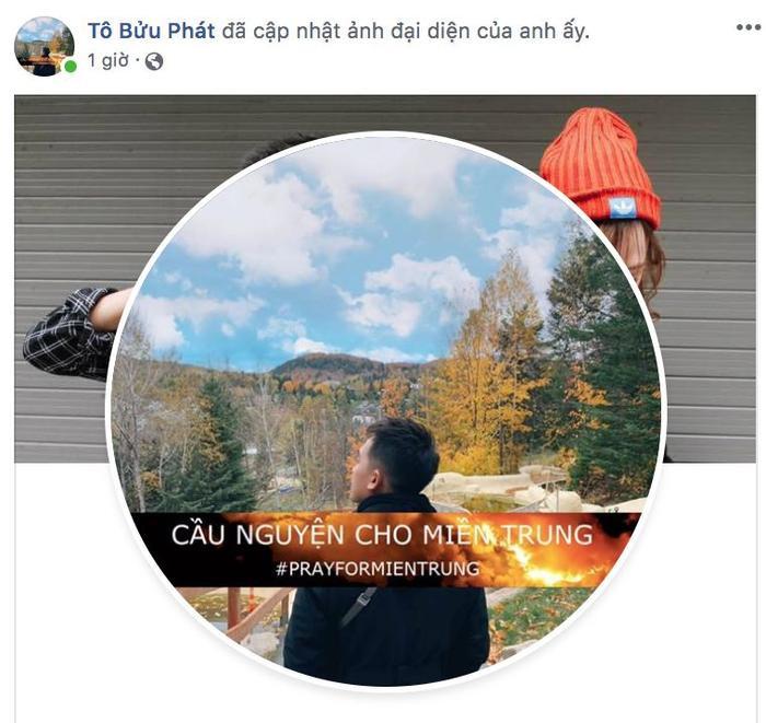 Phở Đặc Biệt thay đổi ảnh đại diện trên Facebook cá nhân để cùng hướng về miền Trung.
