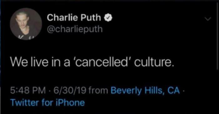 """Dòng tweet giúp cho Charlie Puth """"ăn"""" gạch no nê từ cộng đồng mạng."""