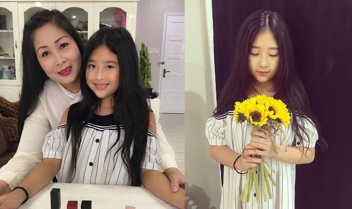 Bí Ngô đã sở hữu nhiều nét đẹp thanh tú của mẹ Hồng Vân và chị gái Xí Ngầu, hứa hẹn sẽ trở thành một hotgirl trong tương lai.