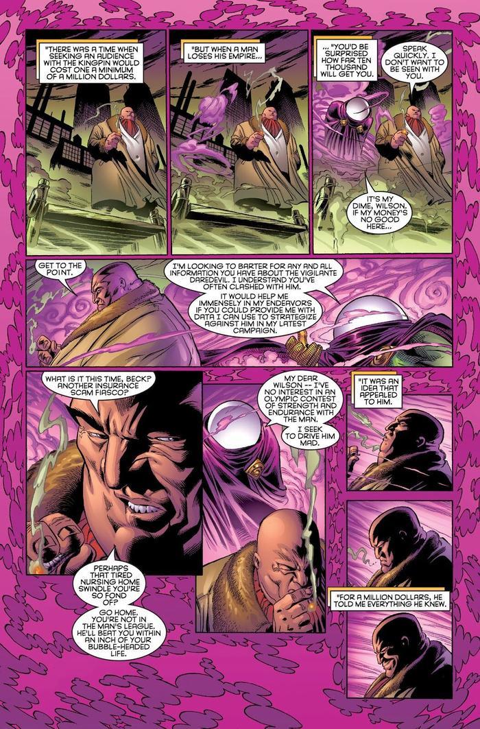 Mysterio thu thập thông tin từ Kingpin