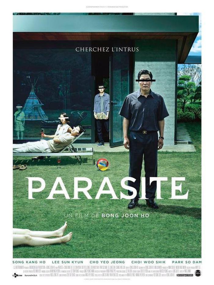 """Poster gốc của phim """"Ký sinh trùng"""" đang làm mưa làm gió tại rạp."""