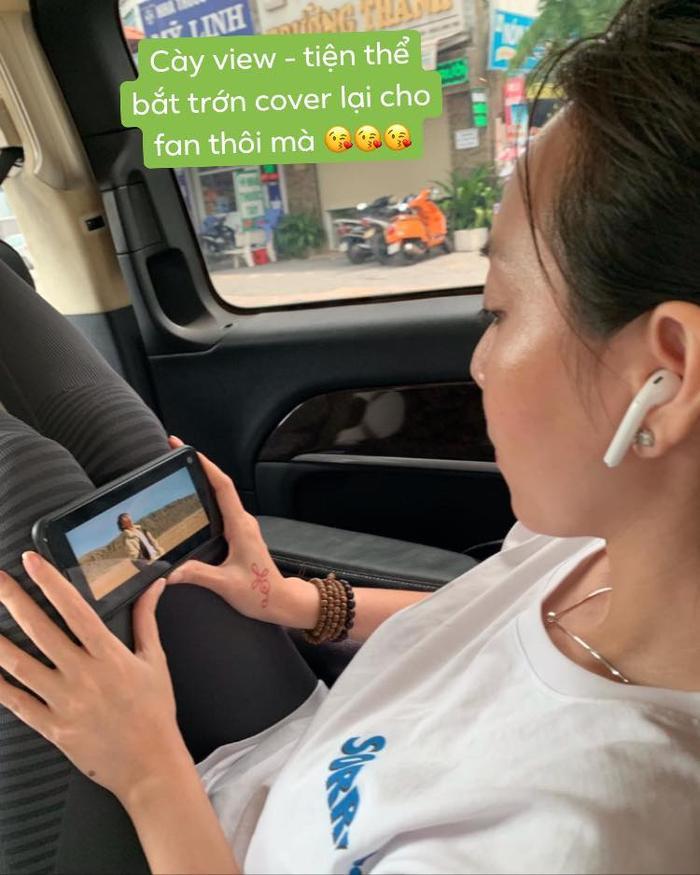 Hình ảnh đi cùng dòng caption được Thu Trang đăng tải trên trang cá nhân.