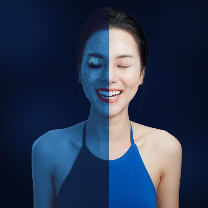 Silicone vô hình được nhìn thấy dưới ánh đèn UV
