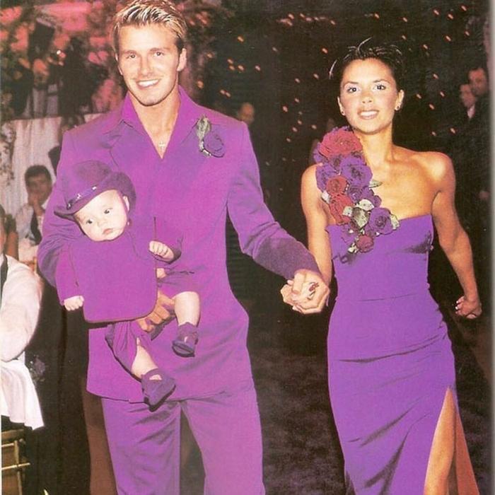 Khi Beckham và Victoria làm đám cưới, cậu con trai Brookly mới 4 tháng tuổi.