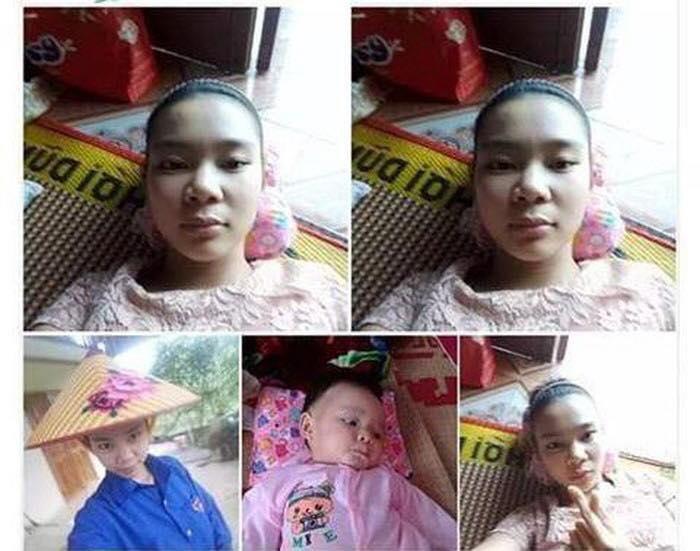 Hình ảnh chị Thảo cùng con gái trước khi mất tích