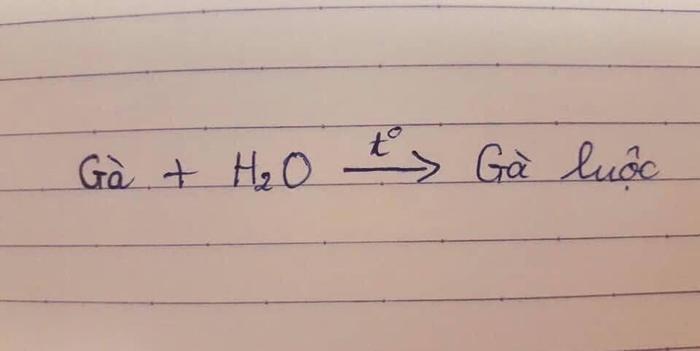 Hình ảnh về phương trình hóa học được nam sinh đăng tải. Nguồn: Trần Minh Đăng/Group Trường Người Ta