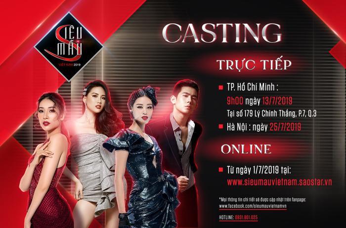 Siêu mẫu Việt Nam 2019 sẽ có buổi tuyển sinh trực tiếp tại TP. HCM vào ngày 13/7.