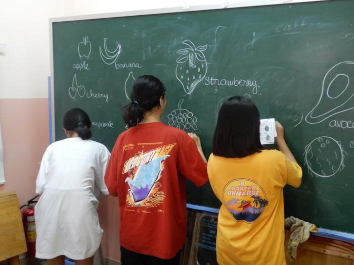 Giờ học tiếng Anh miễn phí tại lớp của thầy Paul.