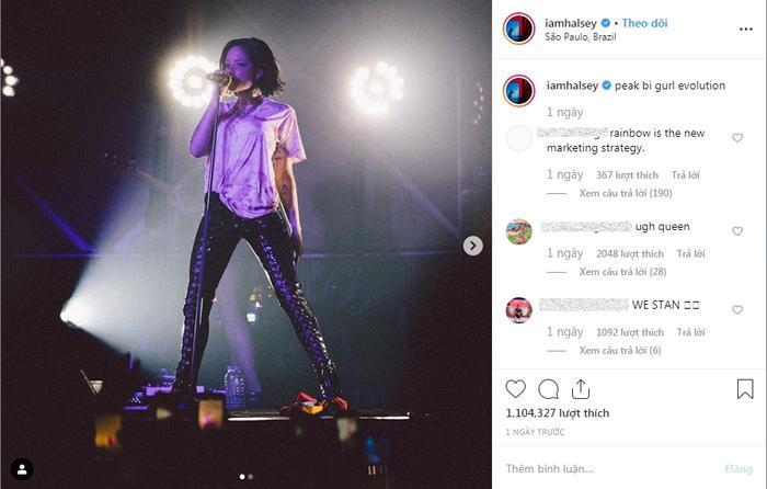 Halsey đáp trả thẳng thắn về lời chỉ trích dùng LGBT để đánh bóng tên tuổi.