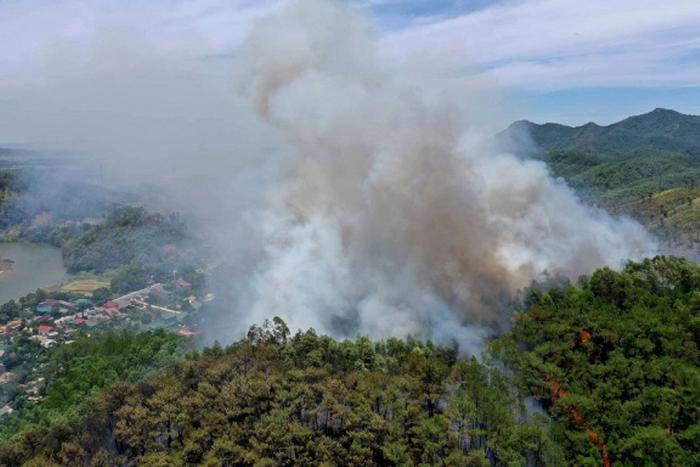 Hiện trường xảy ra vụ cháy rừng