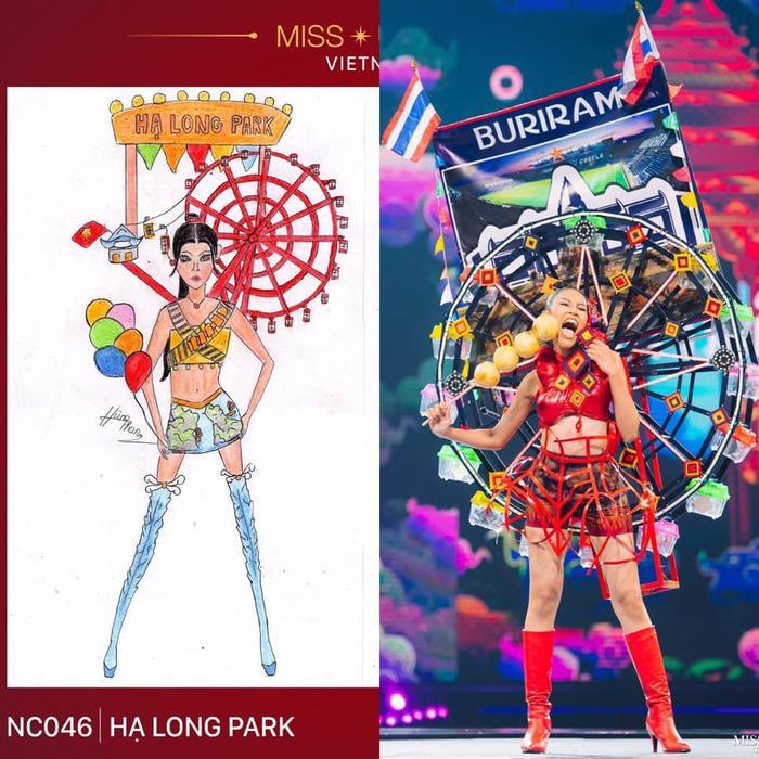 Loạt trang phục dân tộc Miss Grand Thailand có cùng cảm hứng với National Costume của Hoàng Thùy ảnh 4